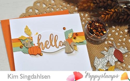 Poppystamps: Autumn Hello