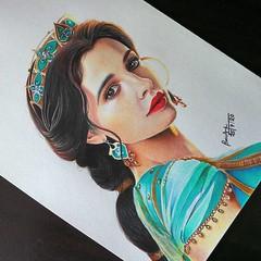 Color Pencil Portrait Drawing Jasmine