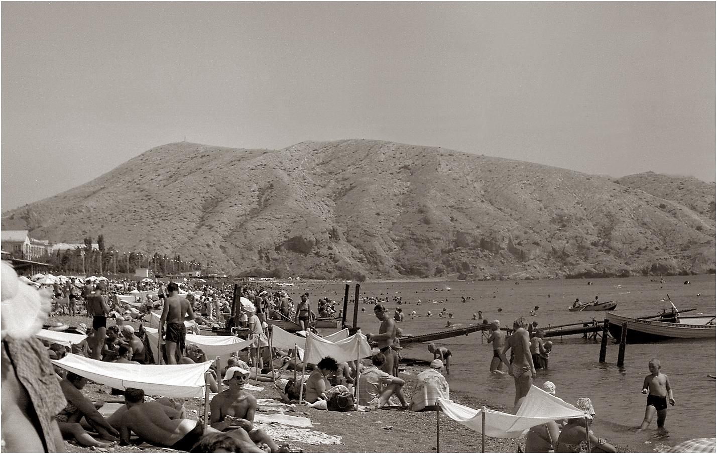 02. 1965. Крым, Судак. Пляж. 21–08
