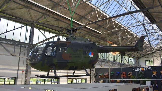 MBB Bo.105CB-4 c/n S-239 Netherlands Air Force serial B-39 Preserved in a shop in Zaandam