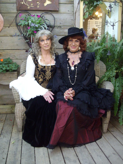 Lady Lorri And Lady Laurette Wellbeloved--One Of These Ladies Seems To Be Enjoying Herself; The Other . . . We, You Be The Judge