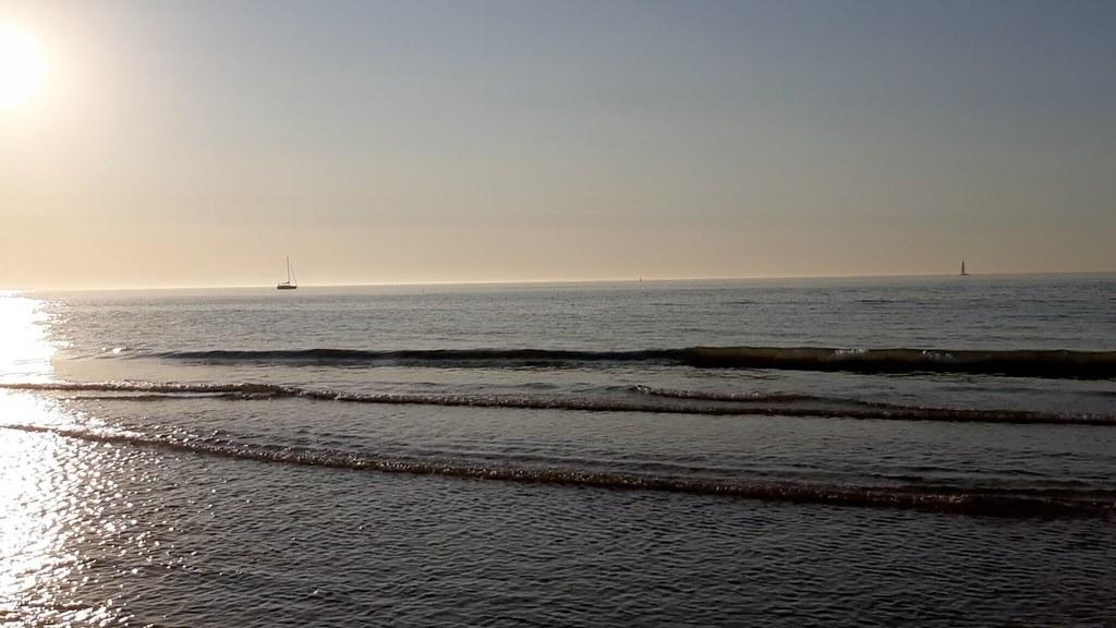 Playa de Ostende al atardecer I