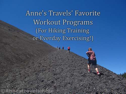 Favorite free workouts for hiking training or fun!  Climbing the Cinder Cone in Lassen National Park, California