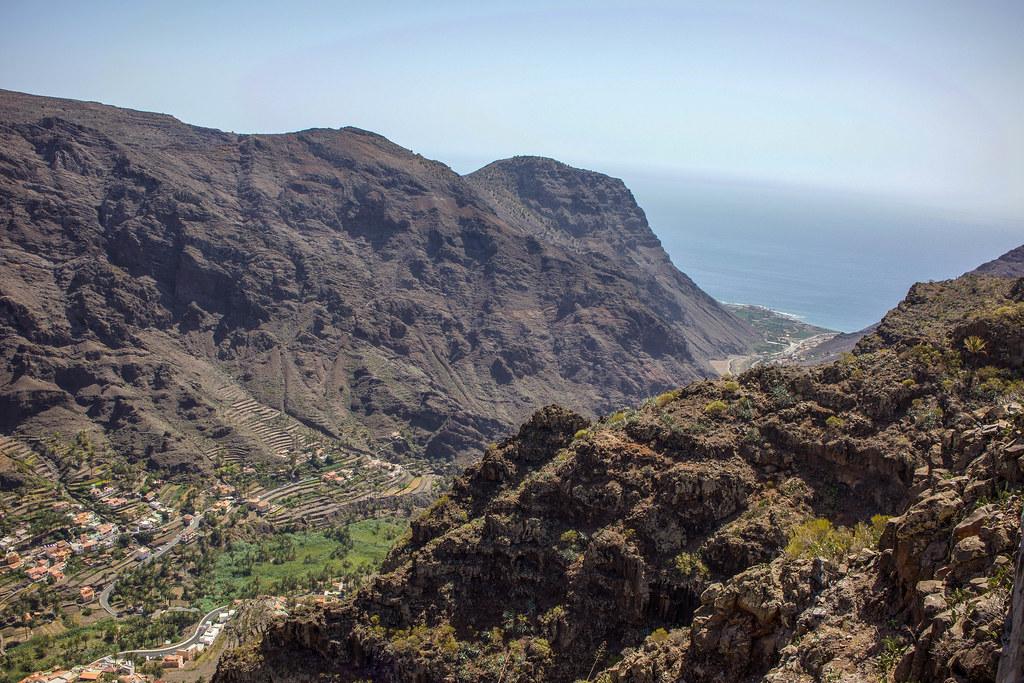 Vistas de Valle Gran Rey en La Gomera