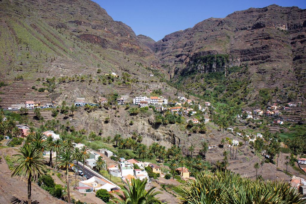 Vistas de Valle Gran Rey desde ermita San Antonio