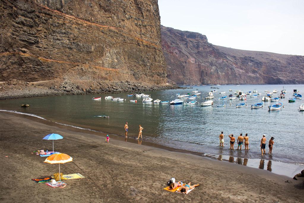 Playa las Vueltas en La Gomera