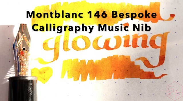 FAT NIB FRIDAY! Montblanc 146 Fun Handwriting Bespoke Calligraphy Music Nib