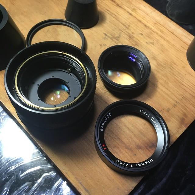 CONTAX Planar 1.4\50分解掃除