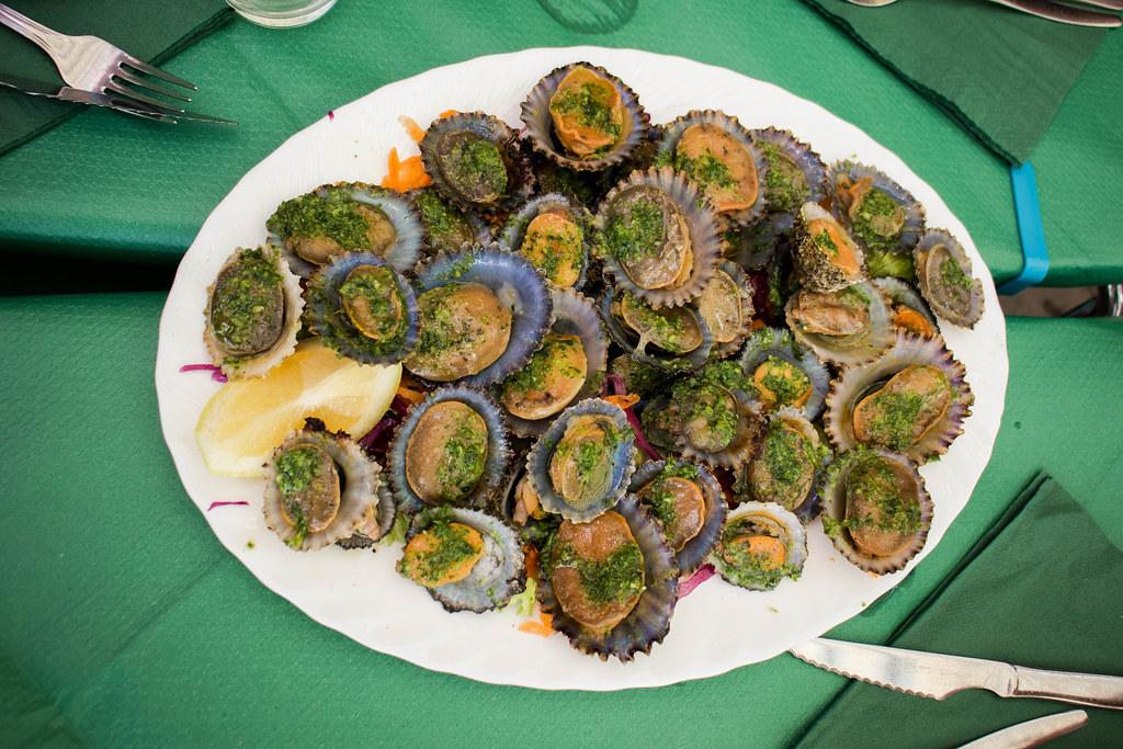 Plato de lapas en La Gomera