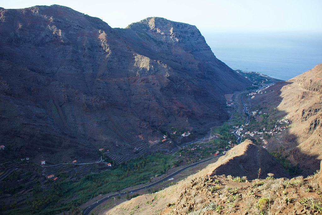 Vistas desde el mirador Curva del Queso en La Gomera
