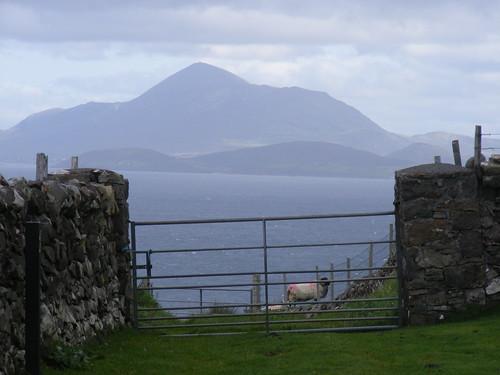 Clare Island looking towards Croagh Patrick