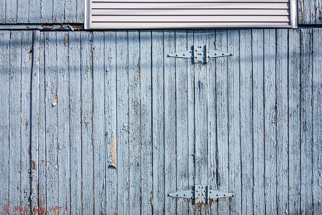 Blue Garage Door