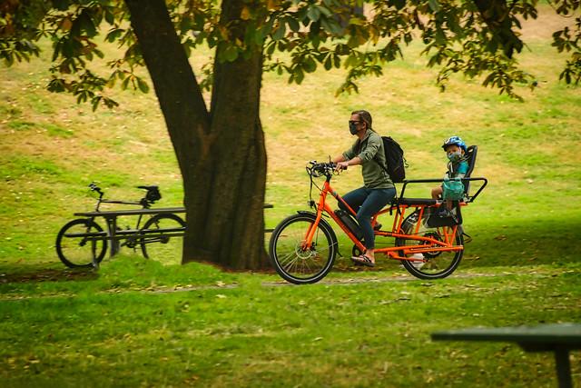 Rider in the park, Wright Park, Tacoma, WA