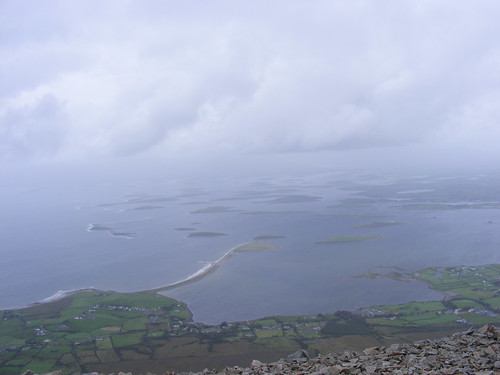 Clew Bay from top of Croagh Patrick
