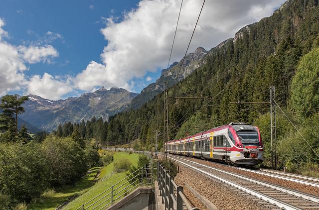 Alsthom ETR 526 Trenitalia Trentino. Valmigna Brennerbahn