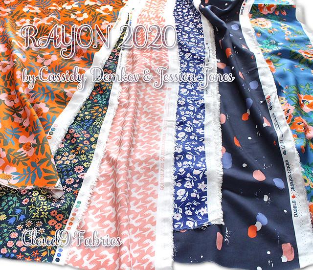 Cloud9 Fabrics Rayon 2020 Collection by Cassidy Demkov & Jessica Jones