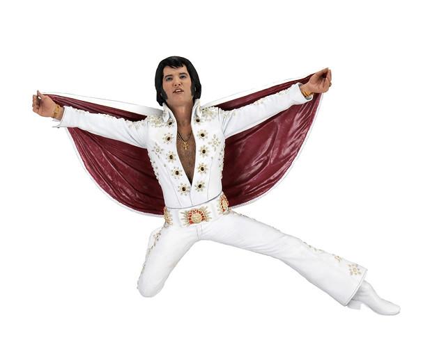 永遠的貓王!NECA 艾維斯·普里斯萊 7 吋立體人形 1972 現場演唱版