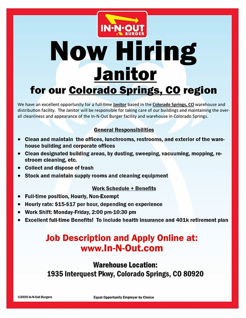 Janitor - Co Springs, CO