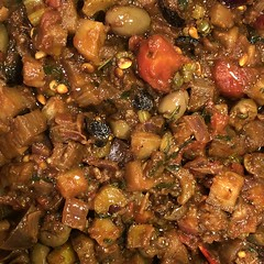 #caponata #infornataOlives #olives #eggplant #sicilian #calabrese #homemade #Food #CucinaDelloZio - #homegrown #herbs