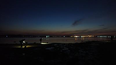 Sunrise over Pasir Ris Park beach