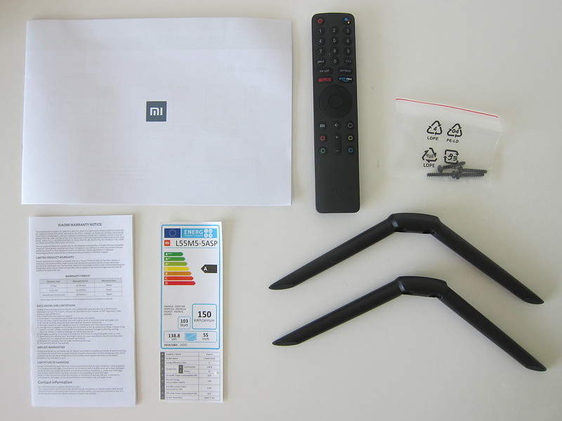 Xiaomi Mi LED TV 4S 55 - Box Contents