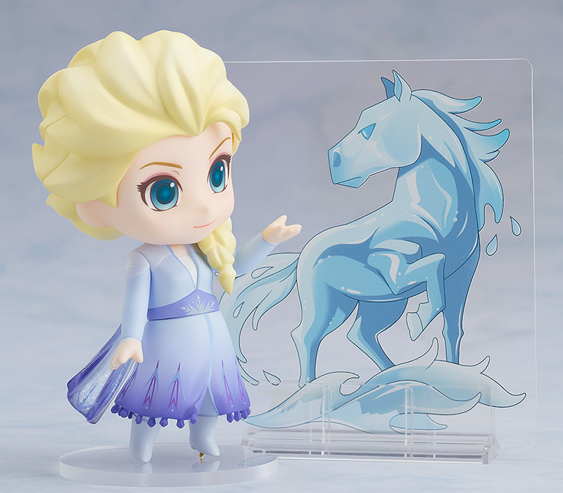 黏土人《冰雪奇緣2》艾莎 藍色洋裝版本!可愛的「火靈」也一起登場囉~