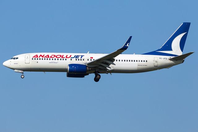 Anadolujet B737-8F2(WL) TC-JFG