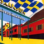 Tue, 2020-09-01 00:00 - GUSTAFSSON, Gotthard (Gotte) (1902-1950). Vägen gar till Skansen, 1932.