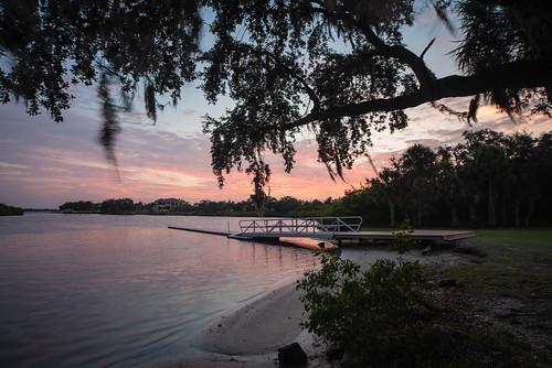 manateeriver manatee river parrishflorida parrish florida sunset landscape dock water