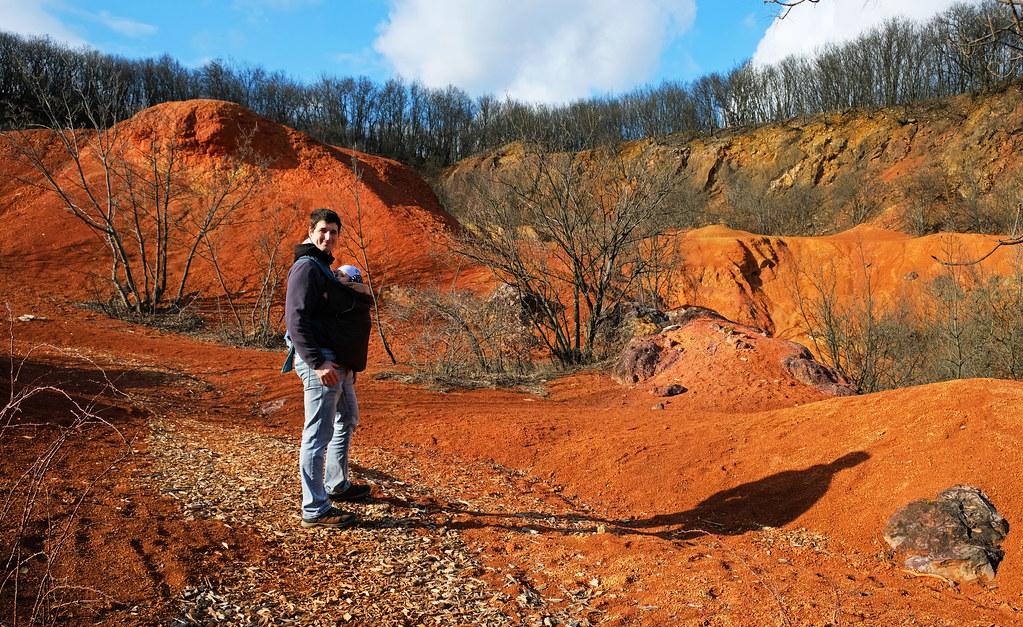 Buxite mine at Gánt, Hungary