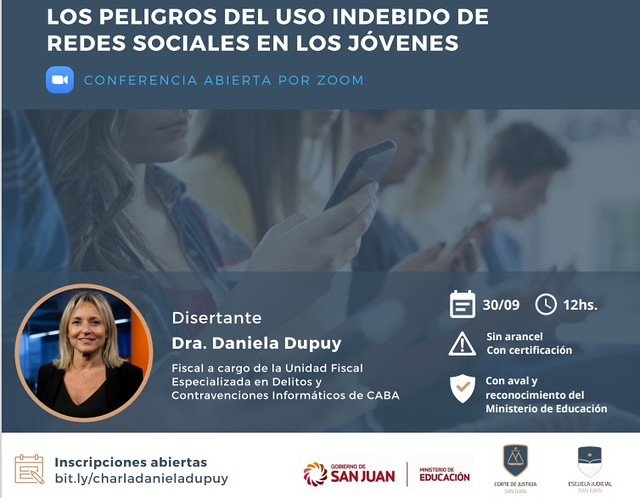 2020-09-17 PRENSA: Experta en informática disertará sobre el uso indebido de las Redes Sociales en los jóvenes