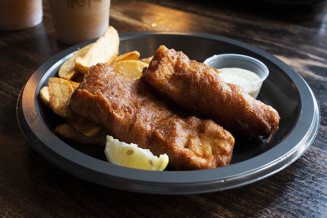 The Three Broomsticks fish and chips