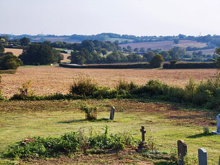 The view south from Willisham churchyard