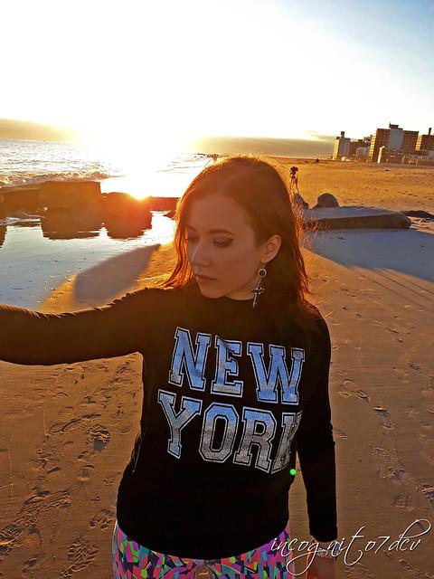 Me at the Coney Island Beach & Pier at Sunset Brooklyn New York City NY P00653 20191028_173437