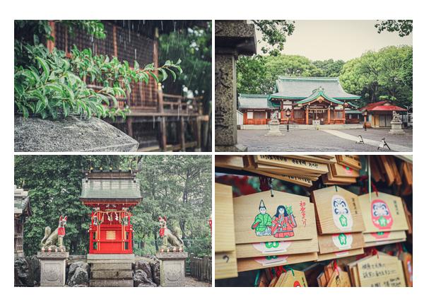 川原神社(名古屋市昭和区) 秋の雨の日