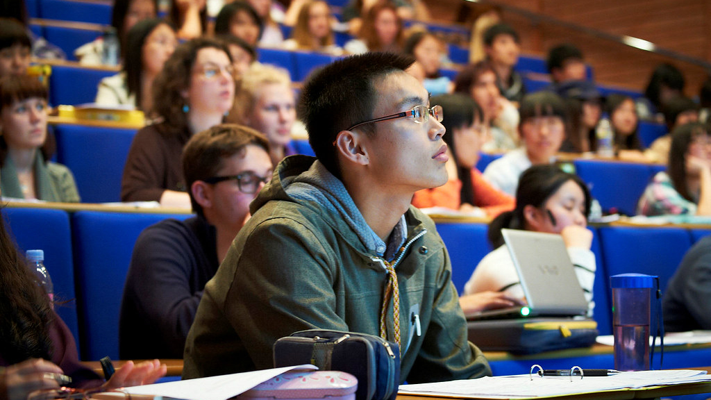 Exchange students attending a British Studies lecture.