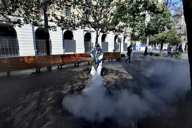 #EnTerreno : Sanitización Plaza de Armas con Nanopartículas de Cobre
