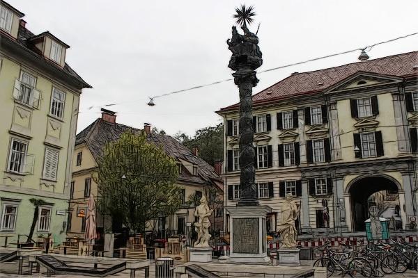 Graz_Dreifaltigkeits-Pestsäule