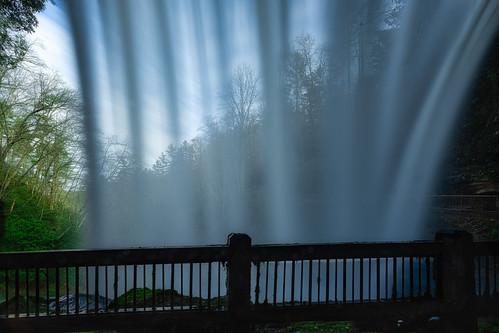 highlands northcarolina unitedstates dryfalls waterfall rearview