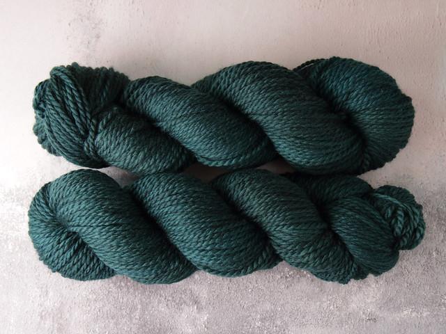 Awesome Aran – pure British wool superwash hand-dyed yarn 100g – 'Spirulina'