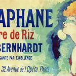Tue, 2020-09-01 00:00 - CHÉRET, Jules (1836-1932). La Diaphane Poudre de Riz (Face powder), Sarah Bernhardt, 1890.