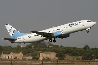 F-GLXJ. B-737/400. Aigle Azur. PMI.