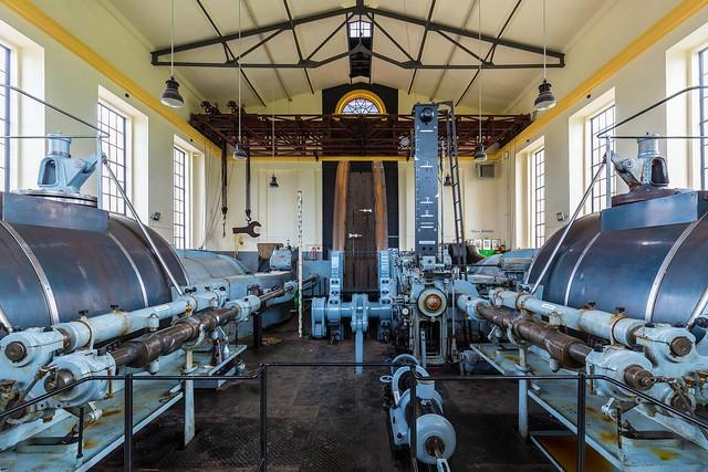 Zwillings - Dampf - Fördermaschine