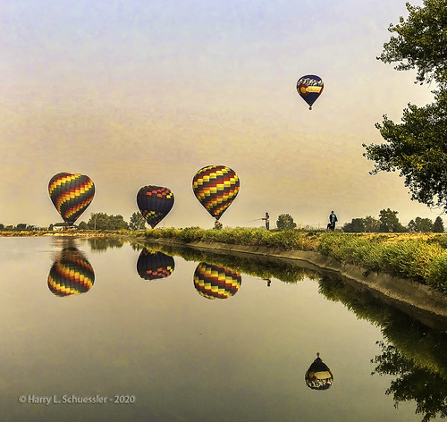 colorado erielake erieco lake reflection sunrise reflections landscape fishing hotairballoons iphone