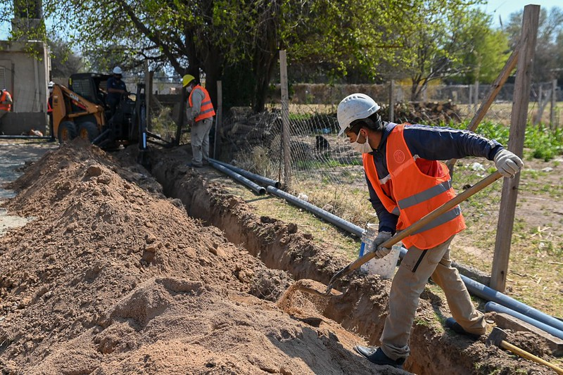 Comenzaron los trabajos para llevar agua potable a Las Huertillas (4)