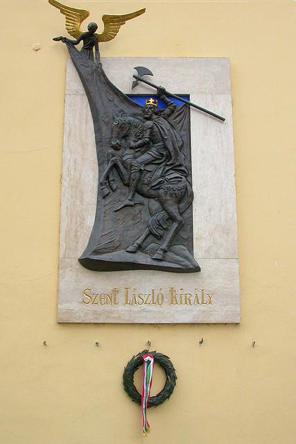 Plaque of Szent Laszlo Kiraly