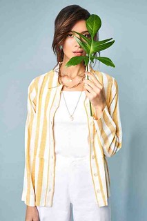 Buy eco-friendly Yellow & White Top for women at ₹ 2,199 with AND