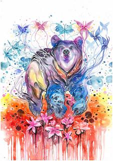 Watercolor Painting Bear