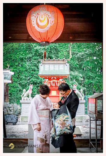 川原神社でお宮参りのロケーションフォト 名古屋市昭和区