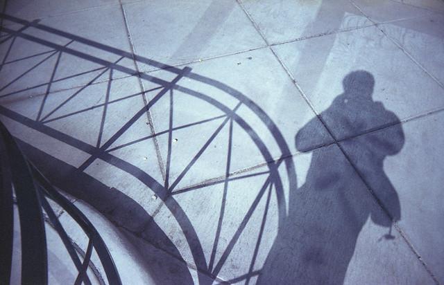 My shadow and railings